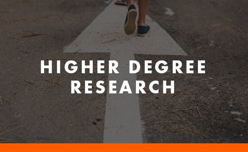 Higher Degree Research button