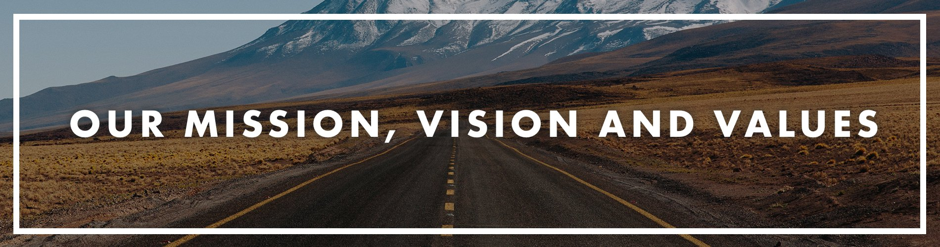 Mission, Vision and Values banner