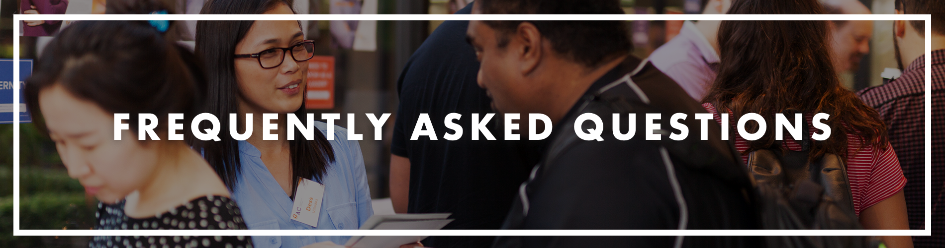 Frequently Asked Questions banner